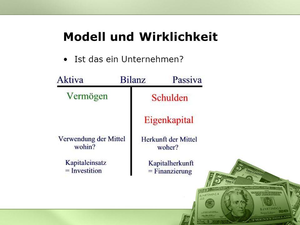Modell und Wirklichkeit Ist das ein Unternehmen?