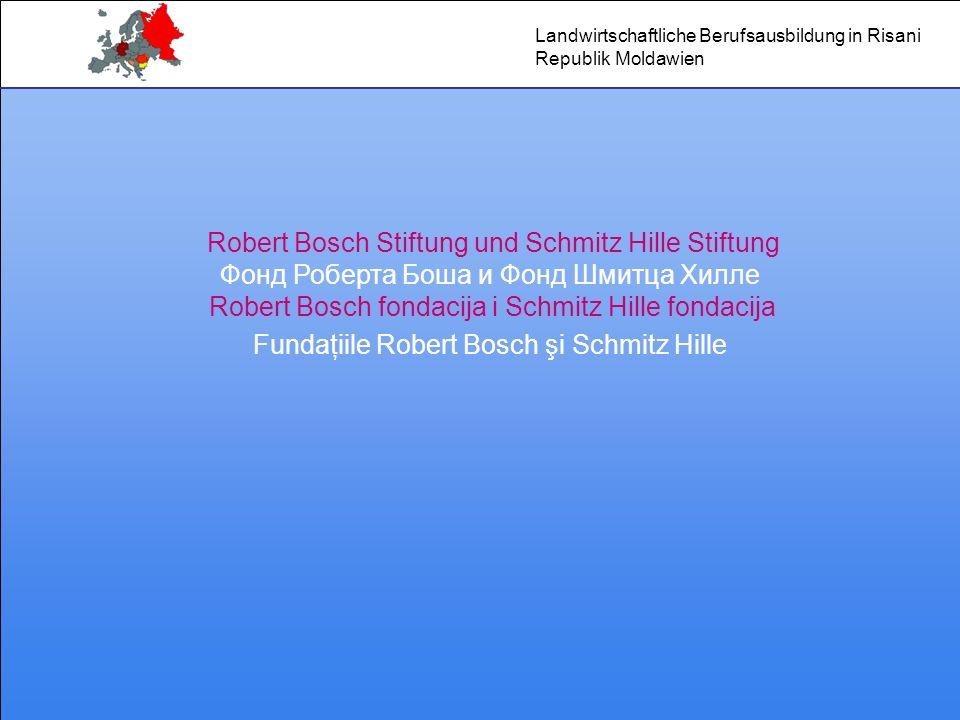Robert Bosch Stiftung und Schmitz Hille Stiftung Фонд Роберта Боша и Фонд Шмитца Хилле Robert Bosch fondacija i Schmitz Hille fondacija Fundaţiile Rob