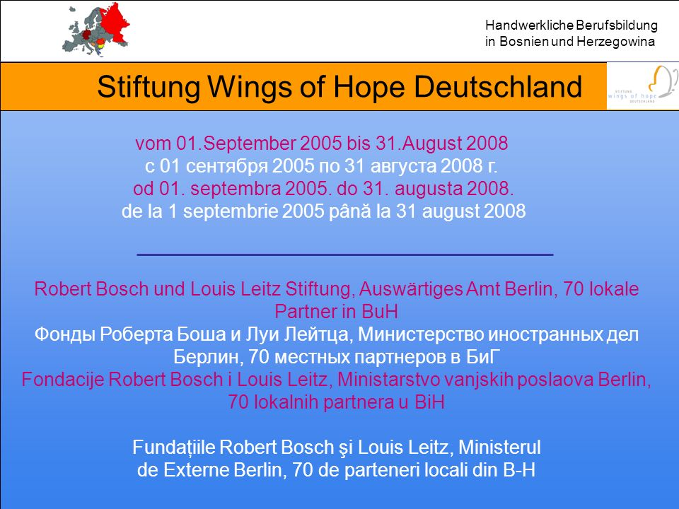 Hilfe zur Selbsthilfe Bosnien und Herzegowina