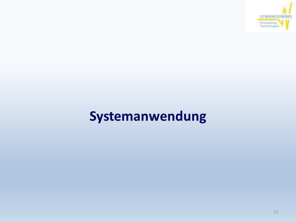 Systemanwendung 22