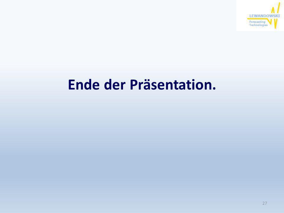 Ende der Präsentation. 27