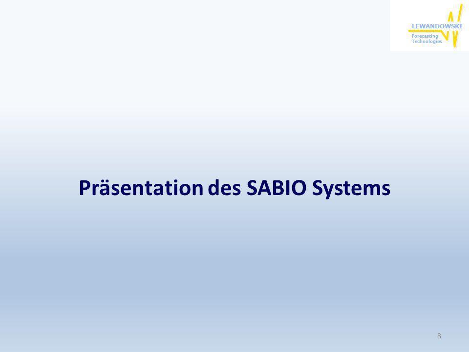 Präsentation des SABIO Systems 8