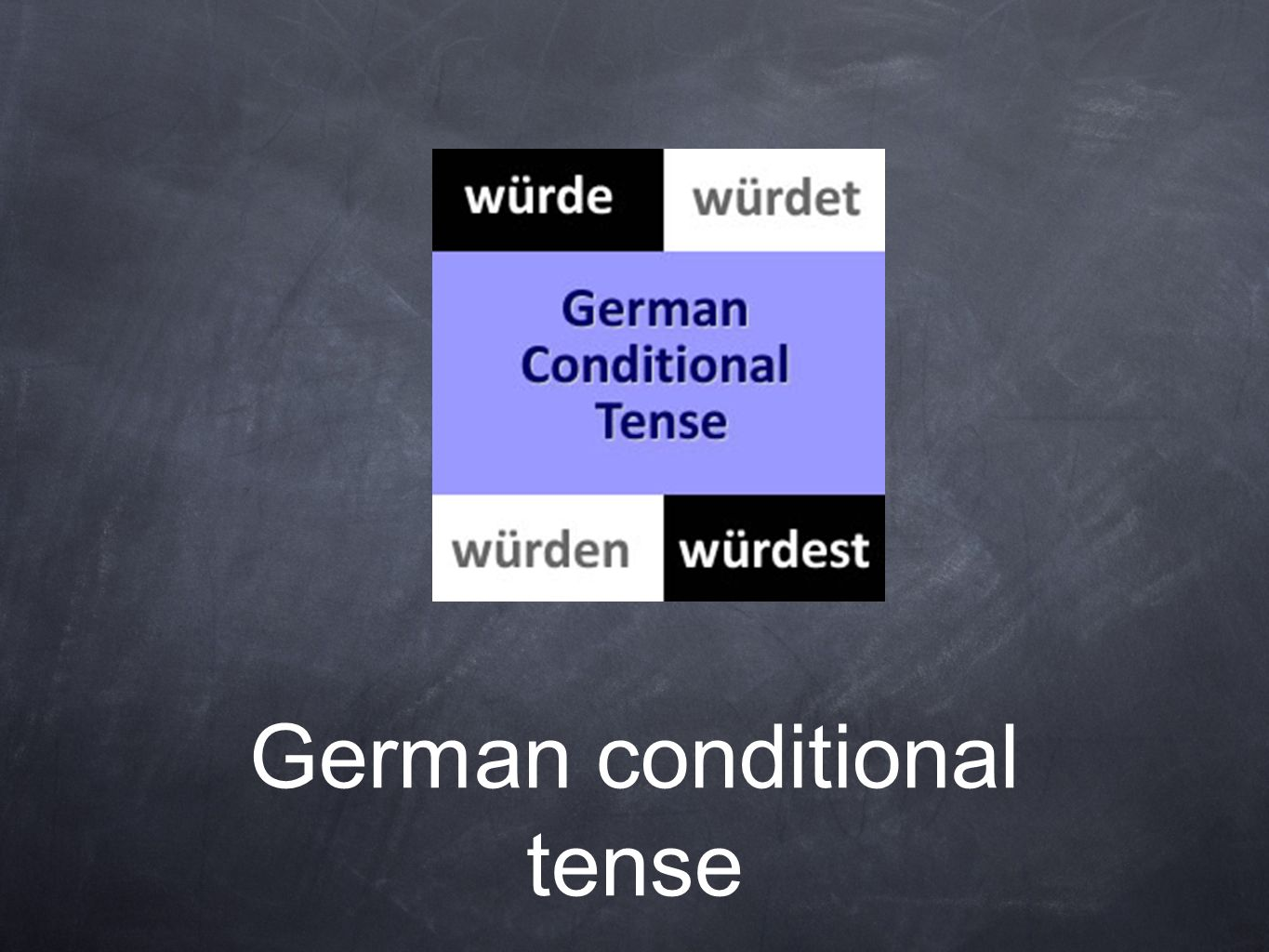 German conditional tense