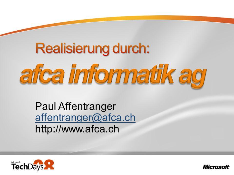 Paul Affentranger affentranger@afca.ch http://www.afca.ch