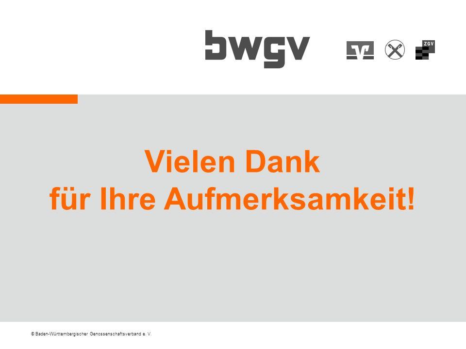 © Baden-Württembergischer Genossenschaftsverband e. V. Vielen Dank für Ihre Aufmerksamkeit!