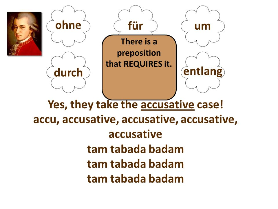 ohne fürum durch gegenentlang Yes, they take the accusative case.