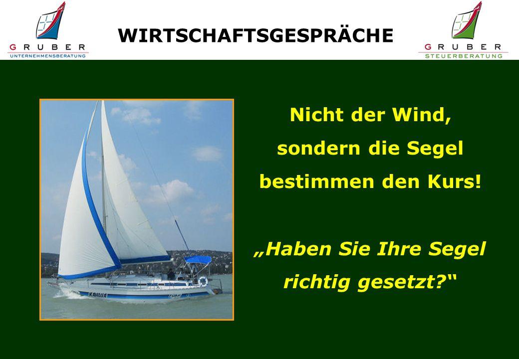 Nicht der Wind, sondern die Segel bestimmen den Kurs.