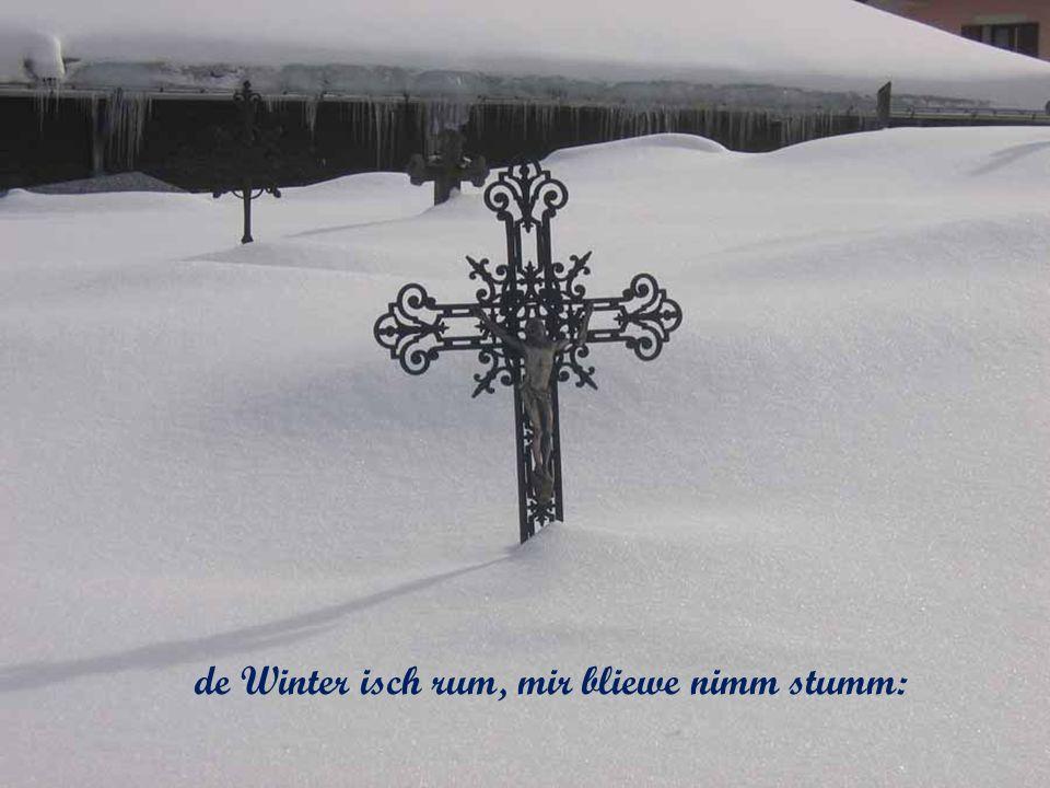 de Winter isch rum, mir bliewe nimm stumm: