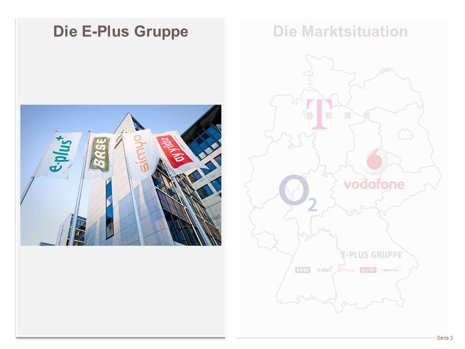 Wir sind nicht die Größten, aber meistens die Ersten Gründung der E-Plus Mobilfunk GmbH & Co KG im Jahr 1993 Marktstart 1994 Die E-Plus Gruppe ist die Nr.