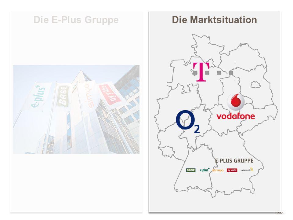 Die Marktsituation Seite 8 Die E-Plus Gruppe