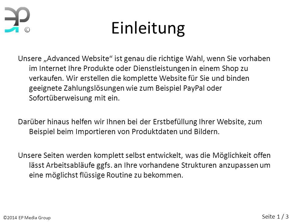 Umfang Die Advanced Website umfasst konkret folgende Leistungen: Registrierung der Domain(s) Einrichtung des Webspace, angepasst auf Ihre Bedürfnisse Erstellung der Website inkl.
