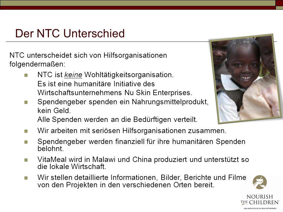 Der NTC Unterschied NTC unterscheidet sich von Hilfsorganisationen folgendermaßen: NTC ist keine Wohltätigkeitsorganisation. Es ist eine humanitäre In