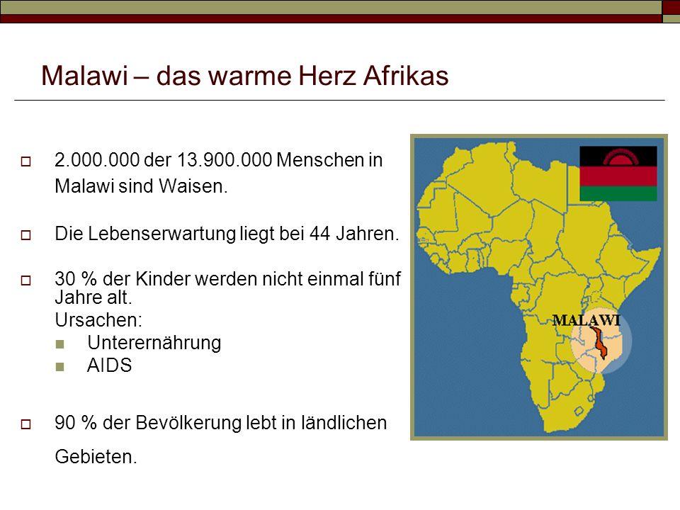 2.000.000 der 13.900.000 Menschen in Malawi sind Waisen.