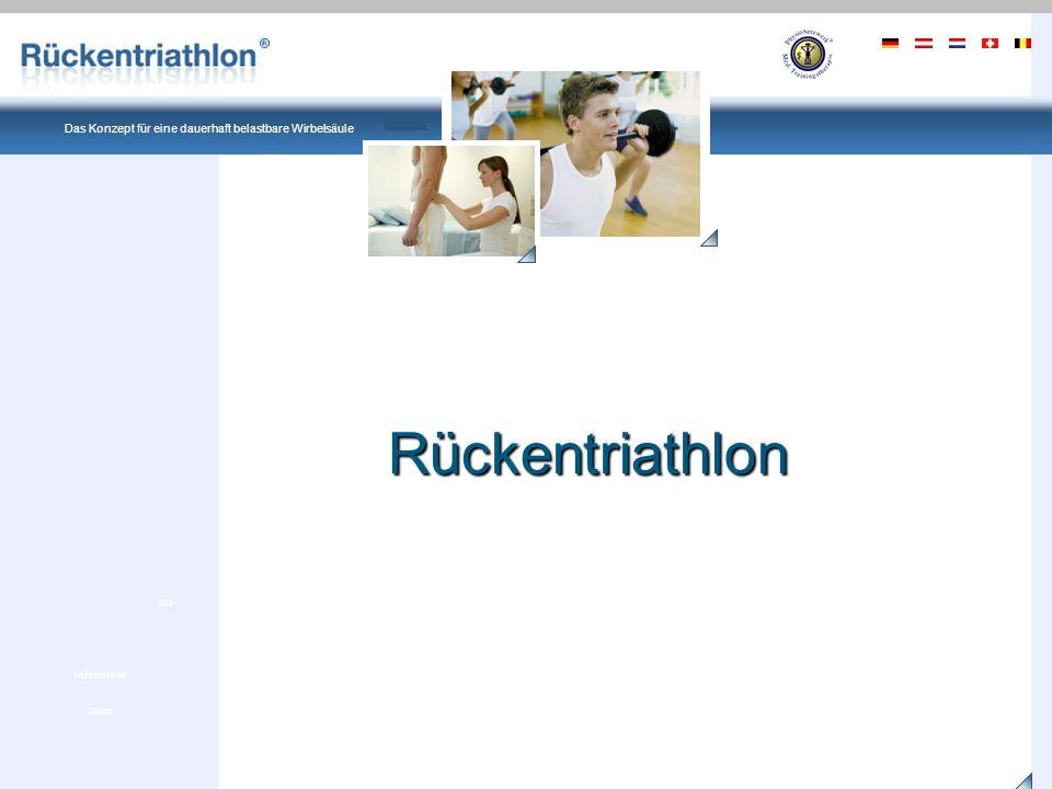 Ein Produkt von PhysioNetzwerk Deutschland Das Konzept für eine dauerhaft belastbare Wirbelsäule Demo GO Infocorner Früher dachten Mediziner, dass Rückenbeschwerden durch eine Verletzung innerhalb der Wirbelsäule ausgelöst wurden.