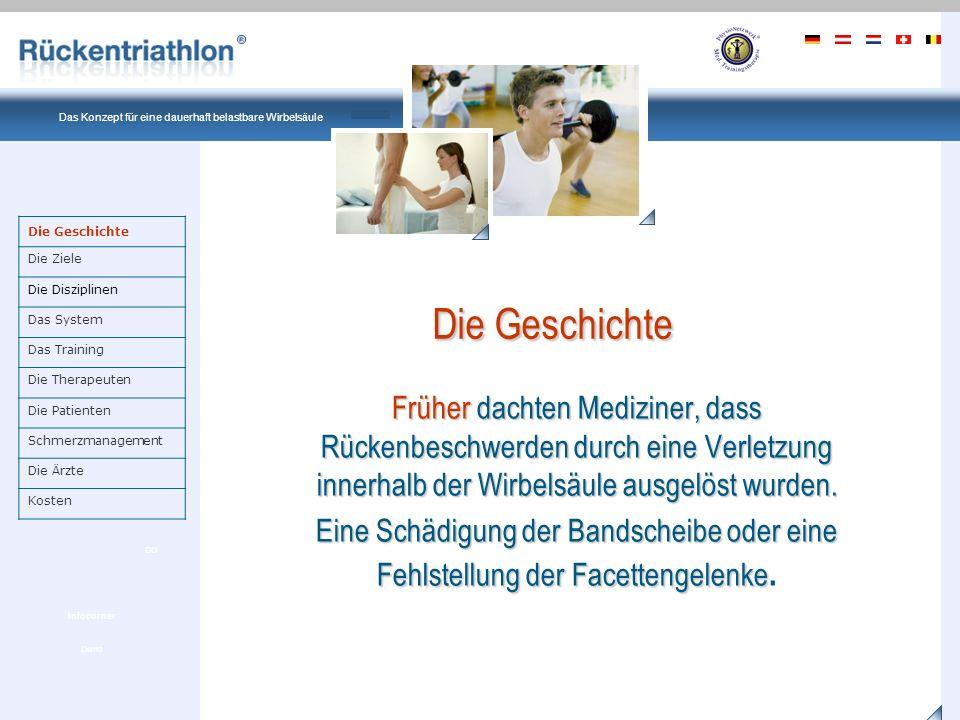 Ein Produkt von PhysioNetzwerk Deutschland Das Konzept für eine dauerhaft belastbare Wirbelsäule Demo GO Infocorner Auch dachte man, dass eine Schiefstellung der Wirbelsäule zu Beschwerden führen würde.
