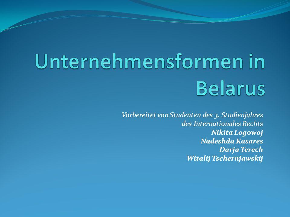 Vorbereitet von Studenten des 3. Studienjahres des Internationales Rechts Nikita Logowoj Nadeshda Kasares Darja Terech Witalij Tschernjawskij