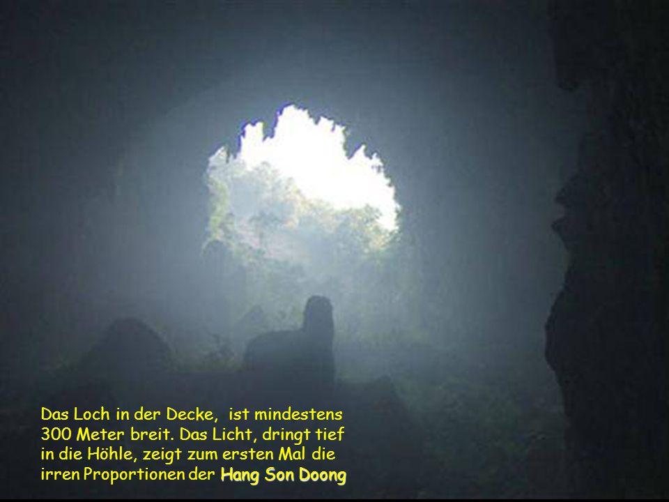 Blick hinauf in Richtung der eingestürzten Höhlendecke. Blick hinauf in Richtung der eingestürzten Höhlendecke.