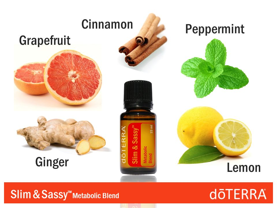 Slim & Sassy Metabolic Blend Grapefruit Cinnamon Peppermint Ginger Lemon
