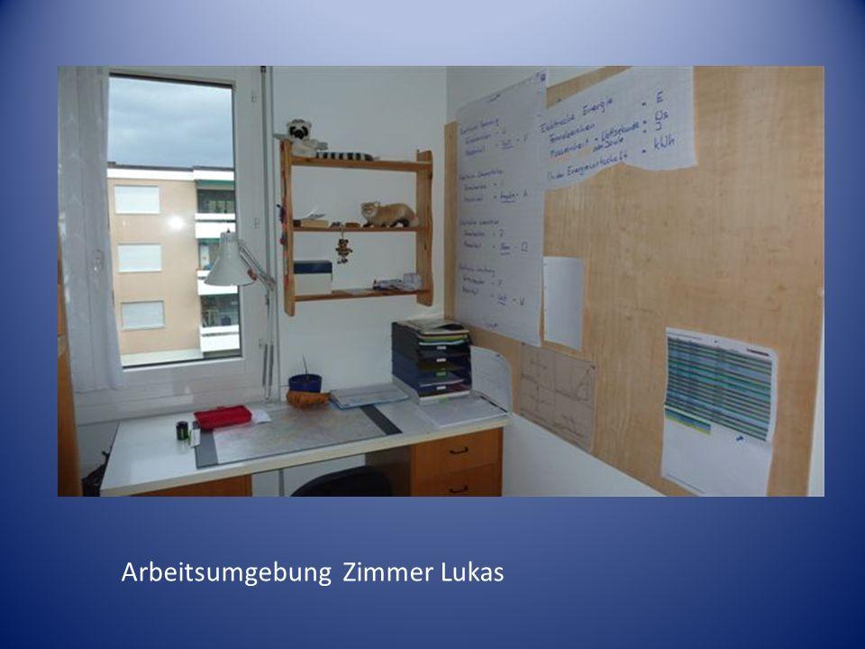 Arbeitsumgebung Zimmer Lukas