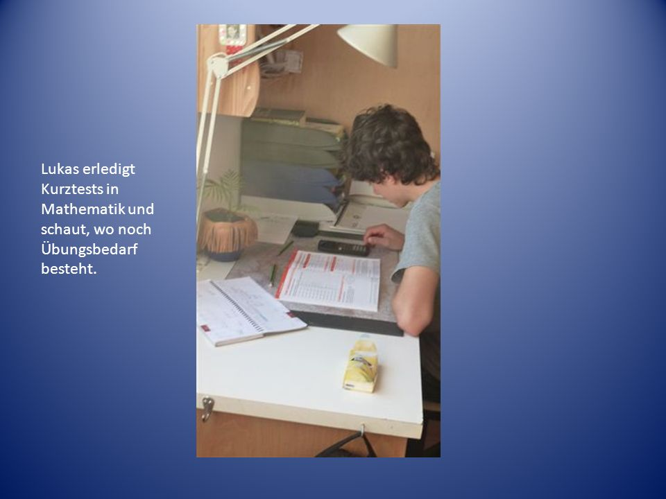 Lukas baut mithilfe seines Bogenbaubuches einen befiederten Pfeil…