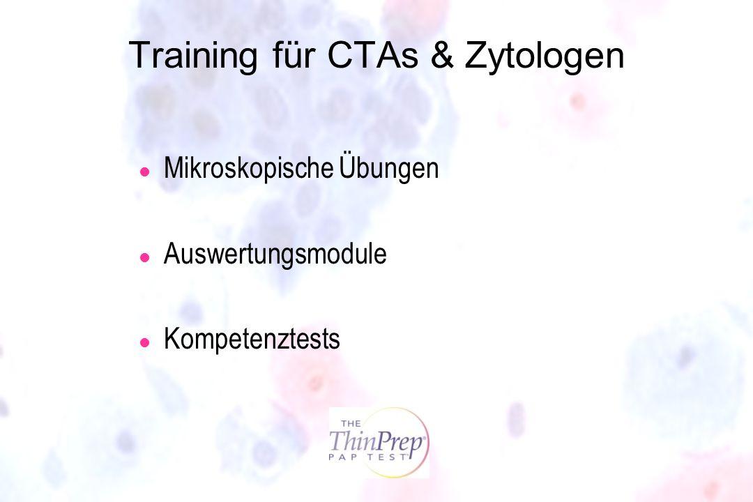 Training für CTAs & Zytologen l Mikroskopische Übungen l Auswertungsmodule l Kompetenztests