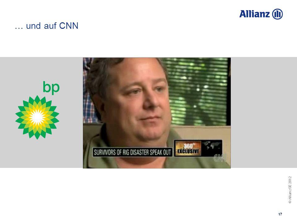 © Allianz SE 2012 17 … und auf CNN