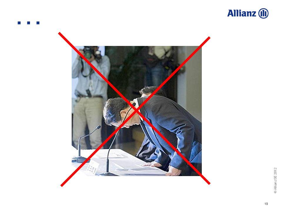 © Allianz SE 2012 19 …