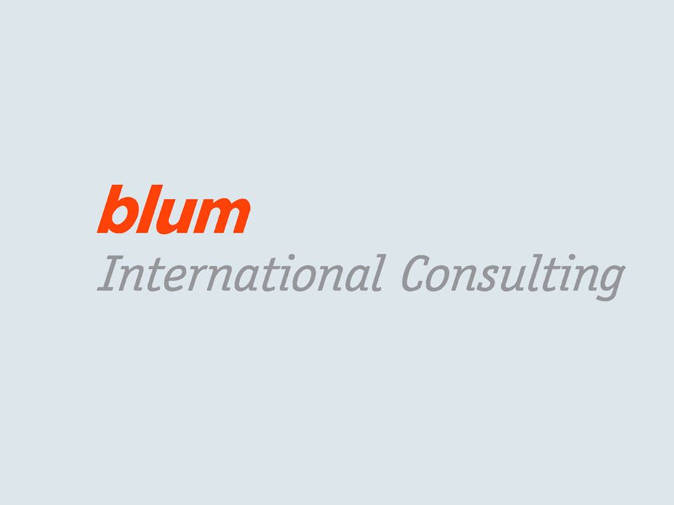 17 © Blum International Consulting GmbH