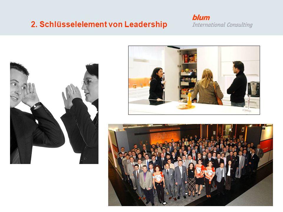 9 © Blum International Consulting GmbH Leadership basiert auf Führungswerten Unternehmerisches Verhalten Kundenorientierung Ethische Einstellung (gesellschaftliche Spielregeln) Empowerment Offene und ehrliche Kommunikation Denken in Netzwerken Schnelligkeit Selbstvertrauen Integrität Respektvoller Umgang mit Menschen Mut …