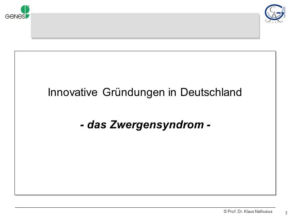 © Prof.Dr. Klaus Nathusius 34 Venture Capital Aprenticeship – Business.