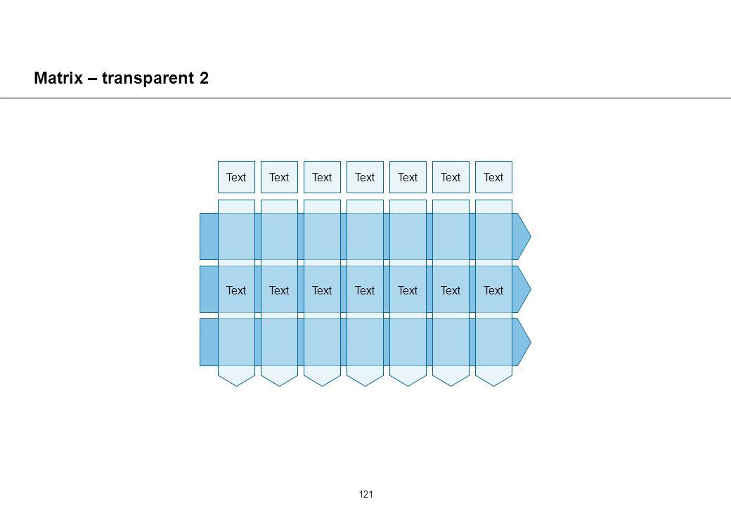 121 Matrix – transparent 2 Text