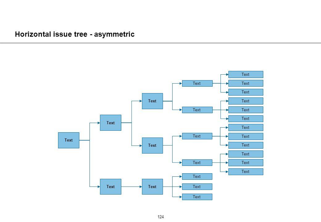 124 Horizontal issue tree - asymmetric Text