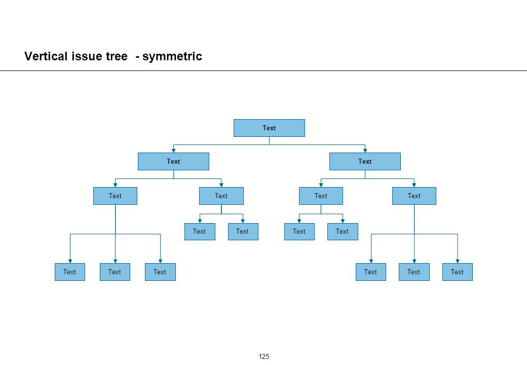 125 Vertical issue tree - symmetric Text