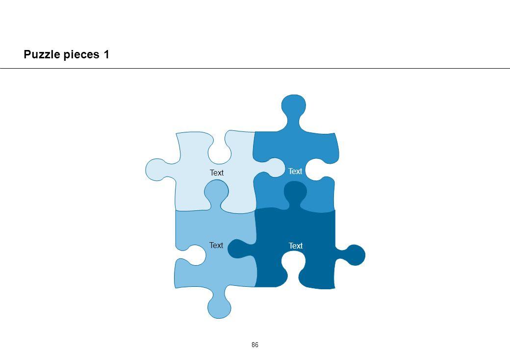 86 Puzzle pieces 1 Text