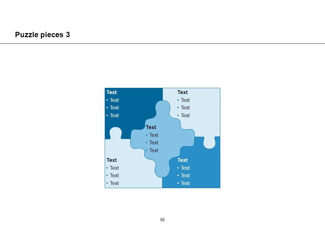 88 Puzzle pieces 3 Text