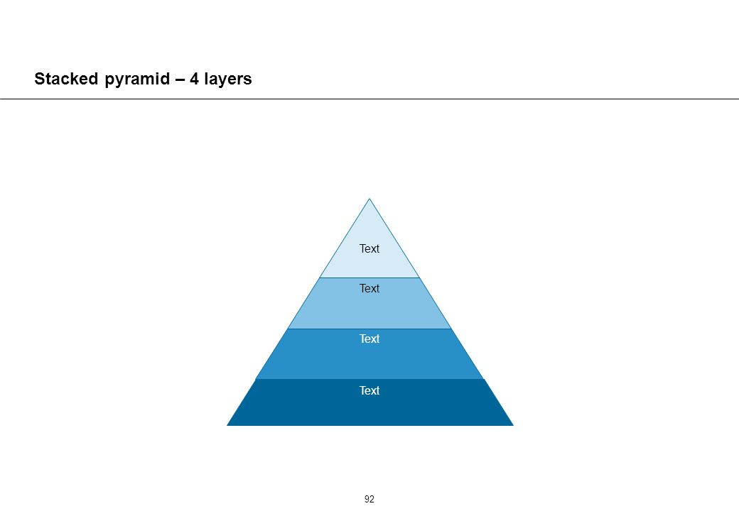 92 Stacked pyramid – 4 layers Text