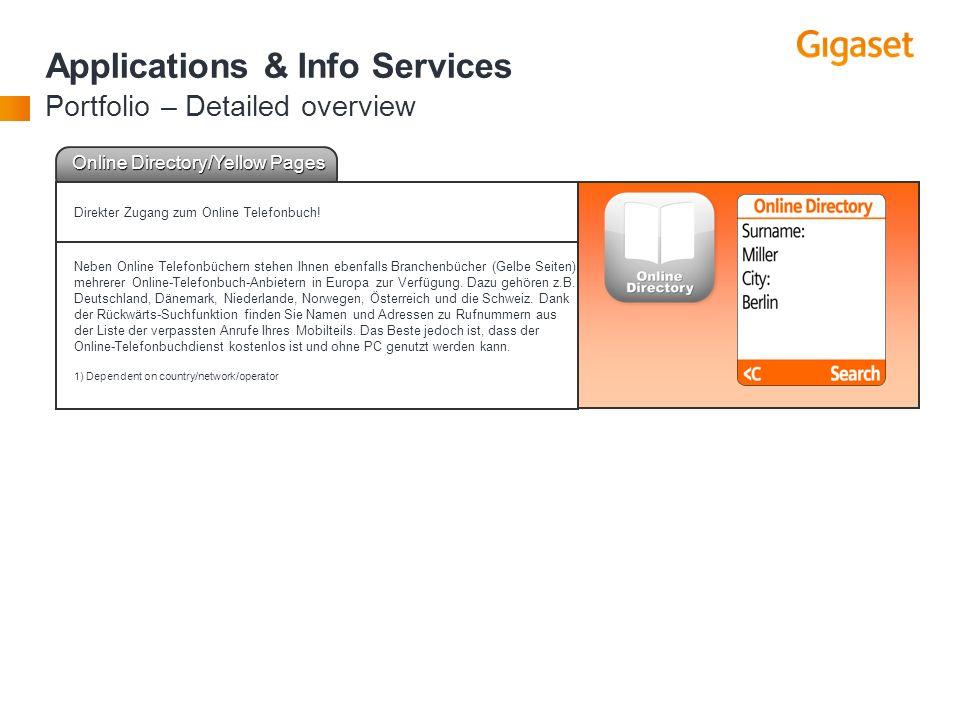 | 25 | Online Directory/Yellow Pages Direkter Zugang zum Online Telefonbuch! Neben Online Telefonbüchern stehen Ihnen ebenfalls Branchenbücher (Gelbe