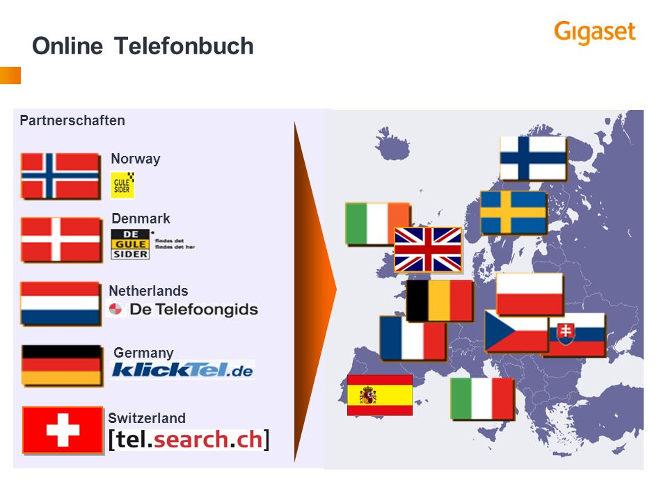 Online Phonebook Search goes global Netherlands Germany Partnerschaften Denmark Norway Switzerland Online Telefonbuch