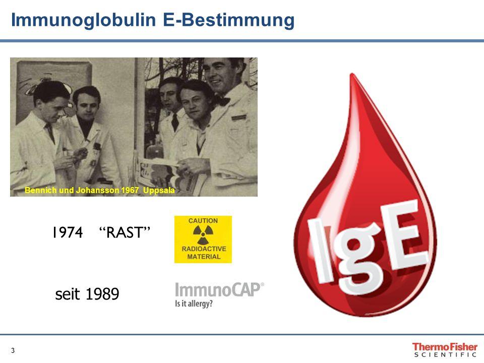 3 Bennich und Johansson 1967 Uppsala Immunoglobulin E-Bestimmung 1974 RAST seit 1989