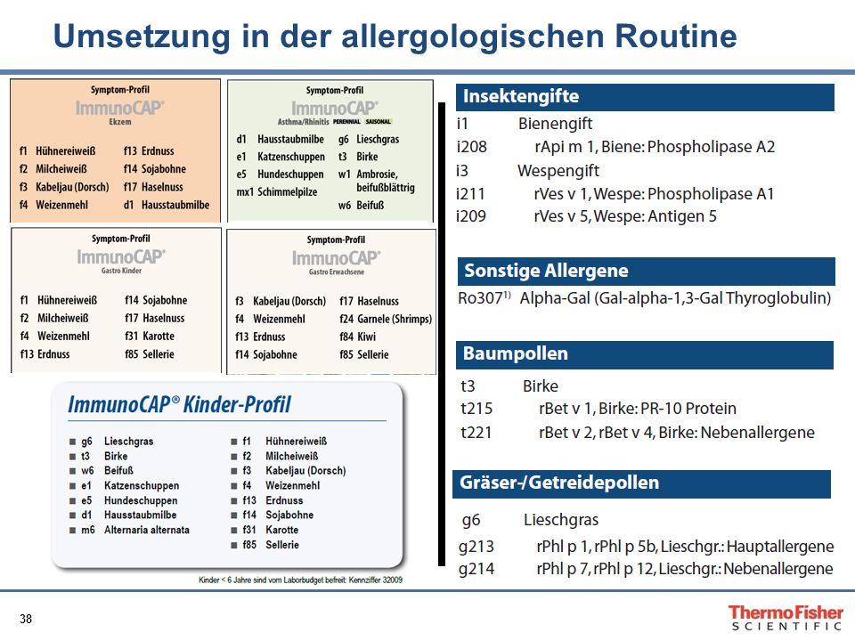 38 Umsetzung in der allergologischen Routine