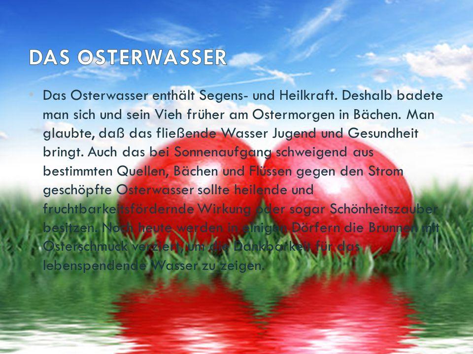 Das Osterlamm wird im heutigen Osterbräuchen vom Osterei und Osterhasen verdrängt.