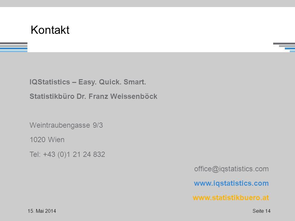 Kontakt IQStatistics – Easy. Quick. Smart. Statistikbüro Dr.