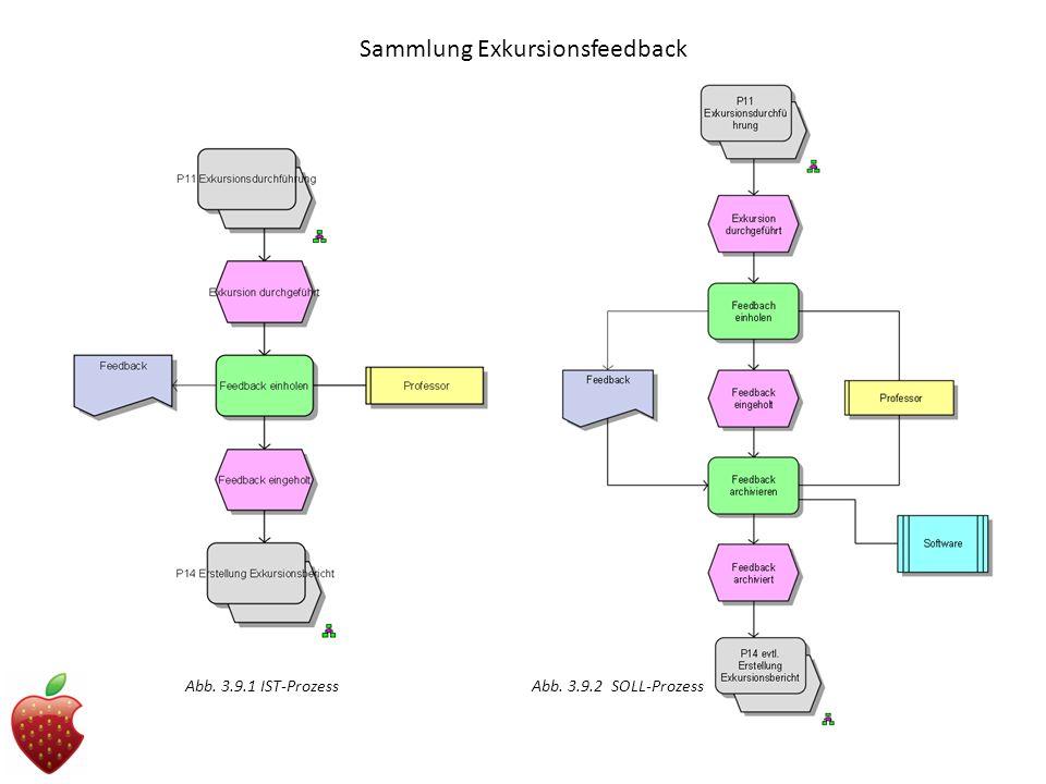 Sammlung Exkursionsfeedback Abb. 3.9.1 IST-Prozess Abb. 3.9.2 SOLL-Prozess