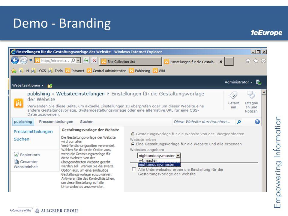 Demo - Branding