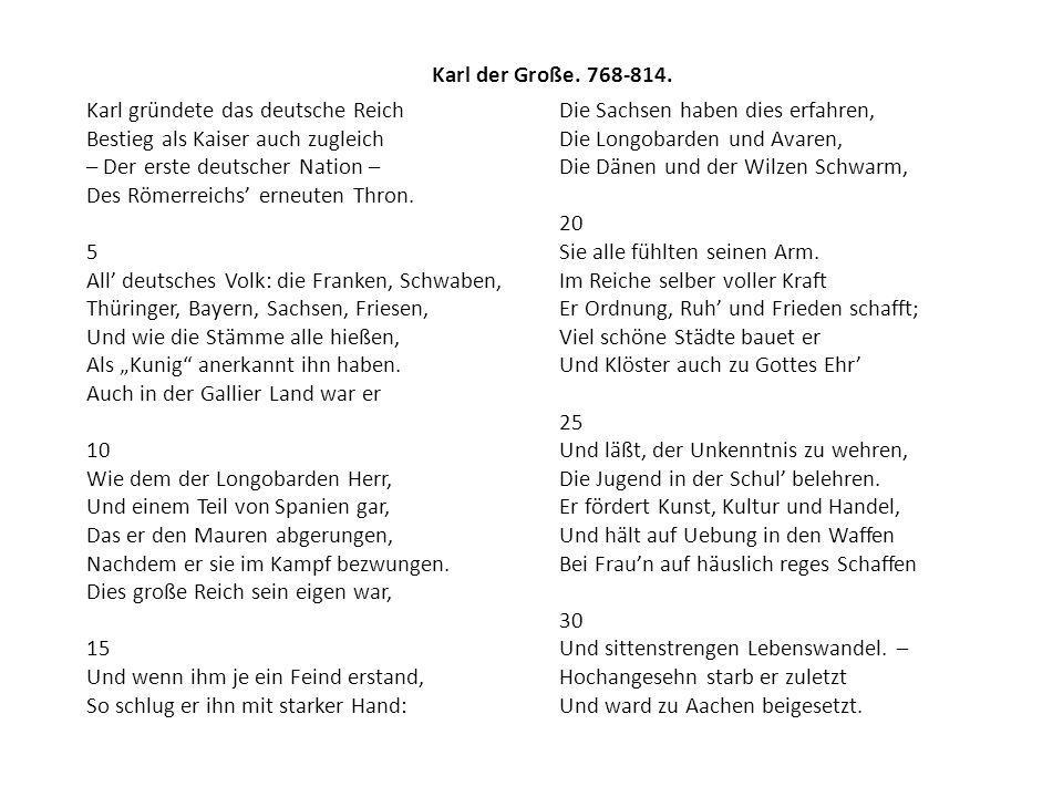 Karl der Große. 768-814.