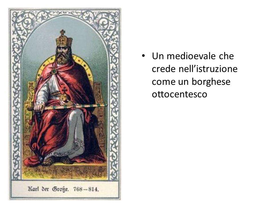 Un medioevale che crede nellistruzione come un borghese ottocentesco