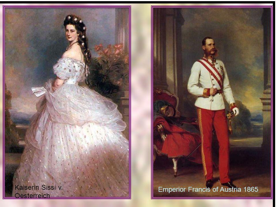 Kaiserin Sissi v. Oesterreich Emperior Francis of Austria 1865