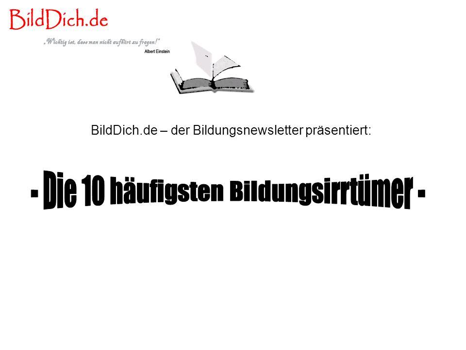 BildDich.de – der Bildungsnewsletter präsentiert: