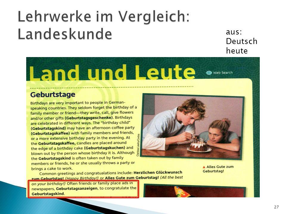 27 aus: Deutsch heute