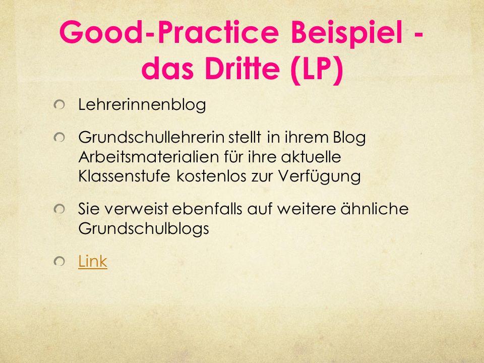 Good-Practice Beispiel - das Dritte (LP) Lehrerinnenblog Grundschullehrerin stellt in ihrem Blog Arbeitsmaterialien für ihre aktuelle Klassenstufe kos